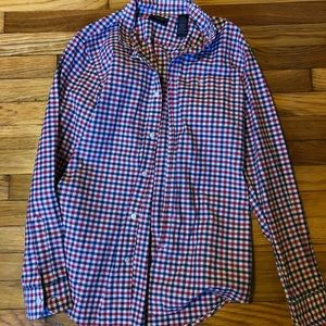Men's red and blue button up from Dockers